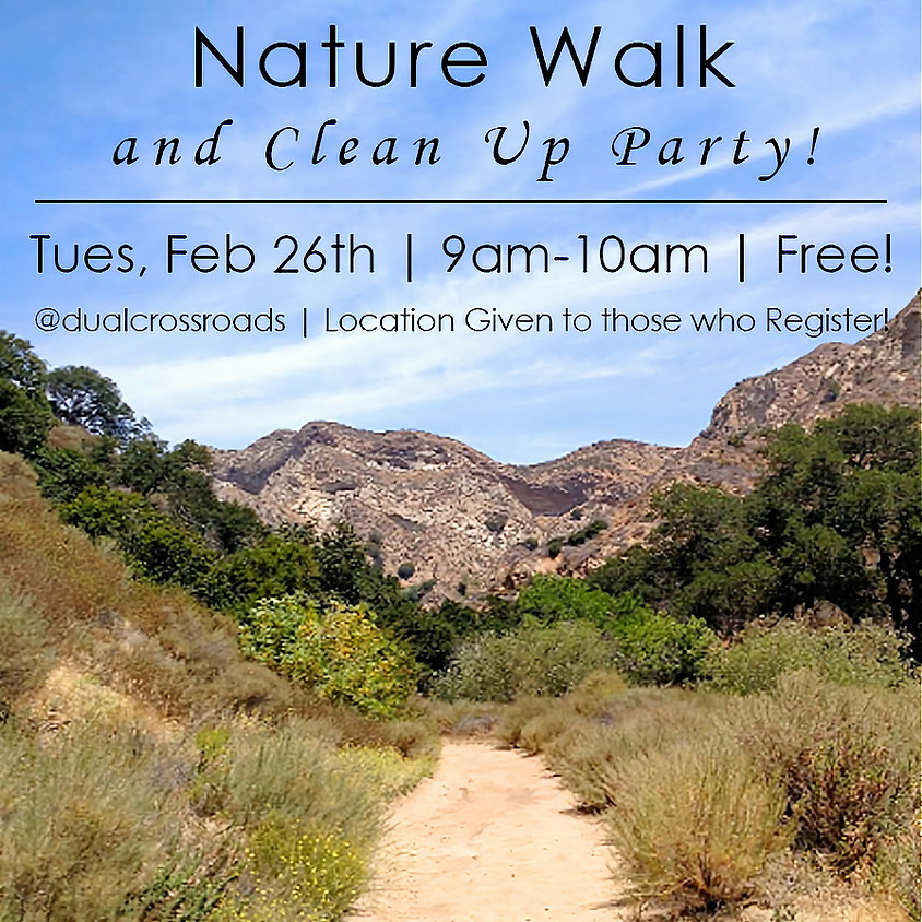 Hidden Paths and Nature Clean Up the 26th