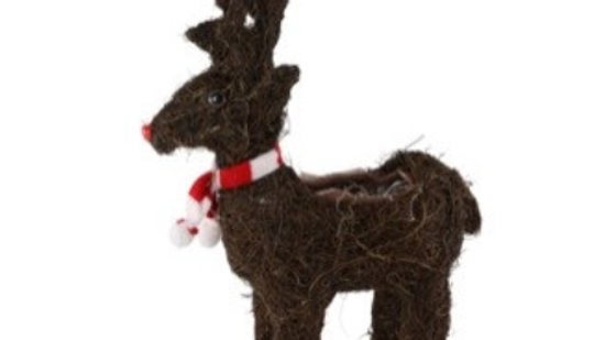 Standing Reindeer with Scarf