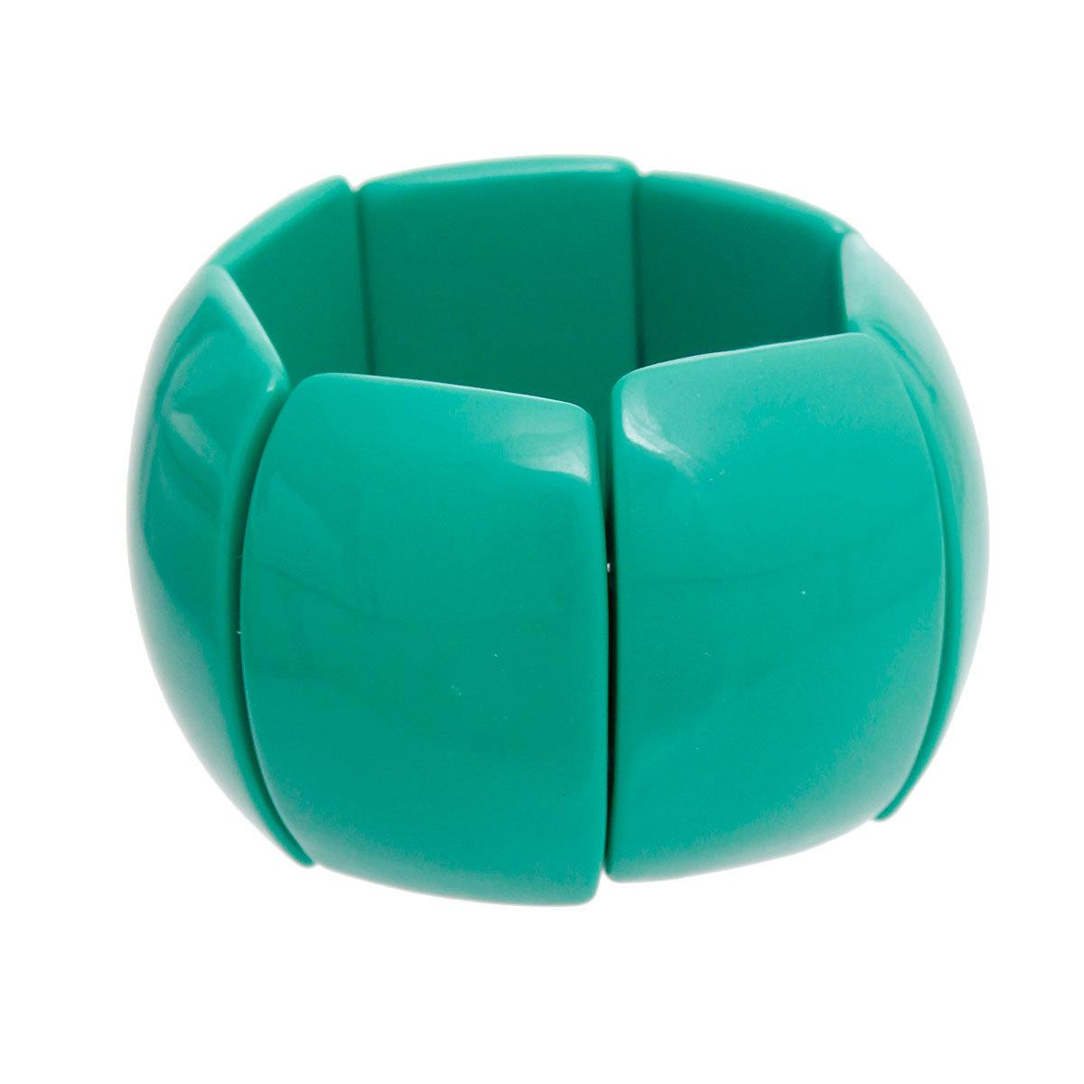 Single Blue Jay Stretch Bracelet with Kelly Green Czech Beads