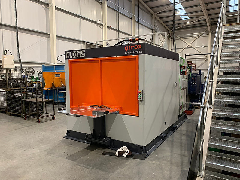 New CLOOS Qirox robotic welding cell