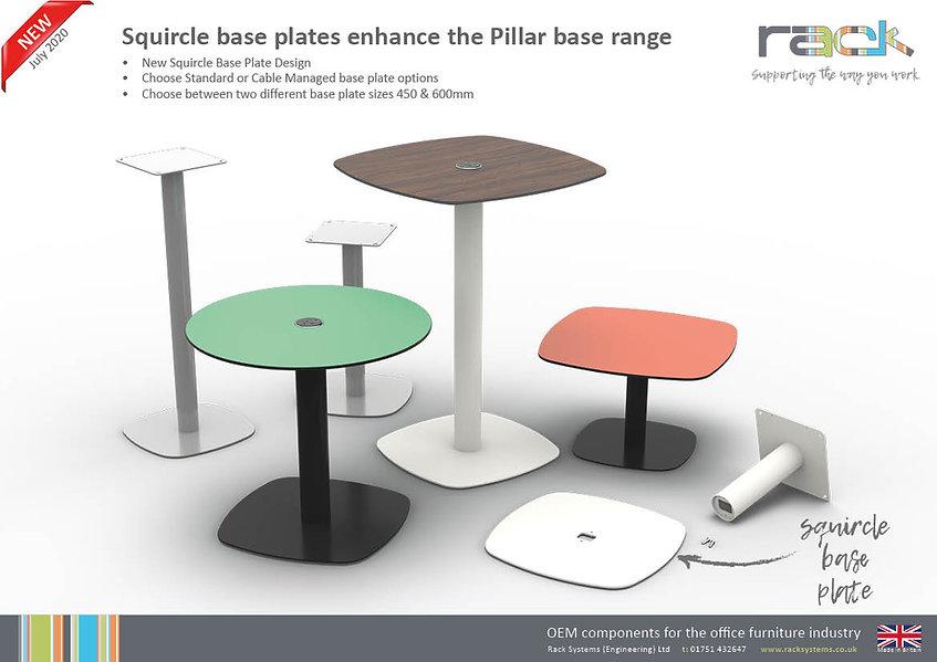 Squircle Pillar Base Tables