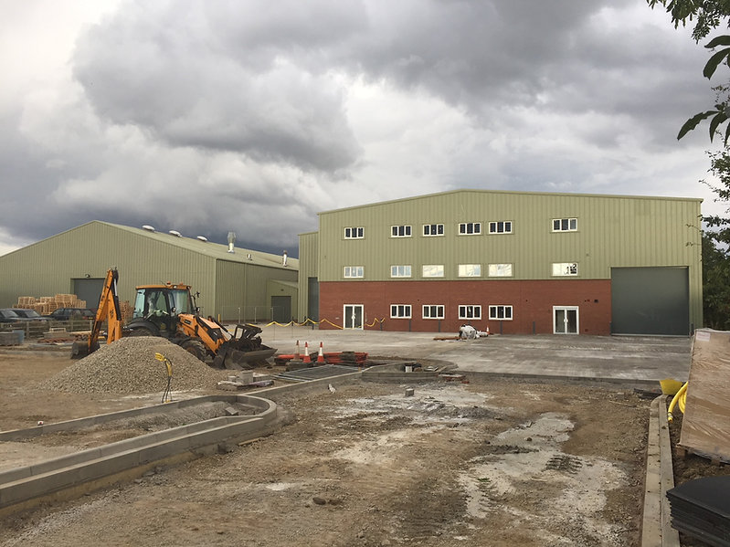 New factory almost finished!