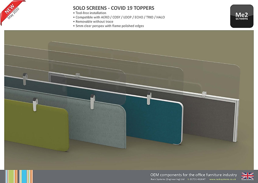 Solo Screens - Covid19 Toppers