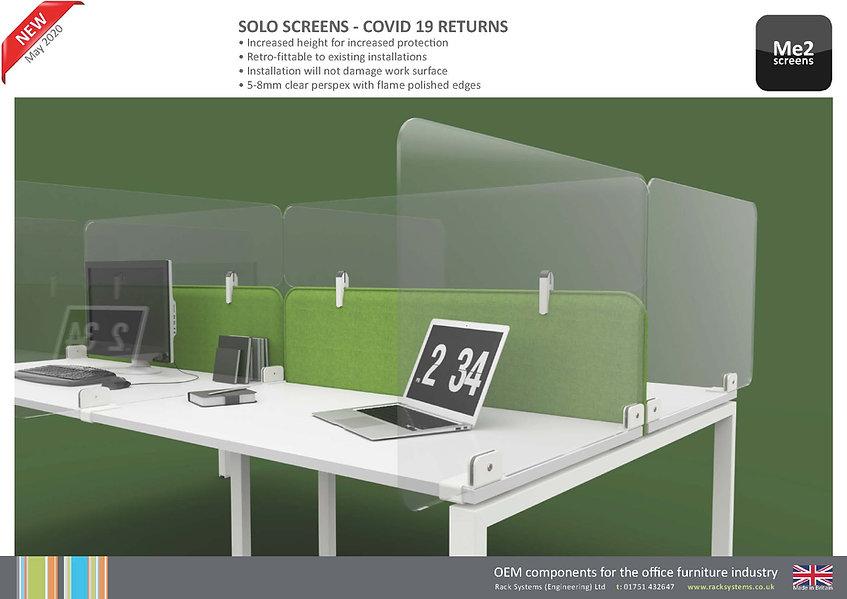 Covid 19 Solo Divider Screens