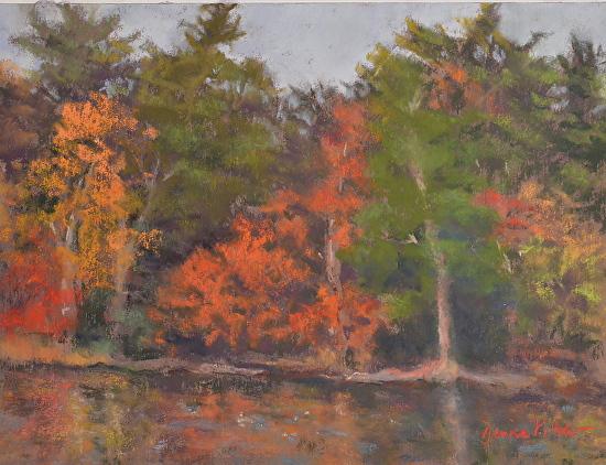 Denise Vitollo - Westtown Lake (pastel)