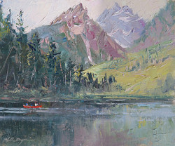 Michele Byrne - Canoeing at String Lake