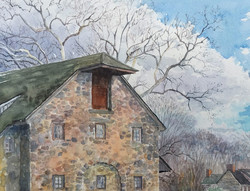 Jane Ramsey - Hill Gurt Farm Legacy, Chadds Ford, PA (plein air watercolor)