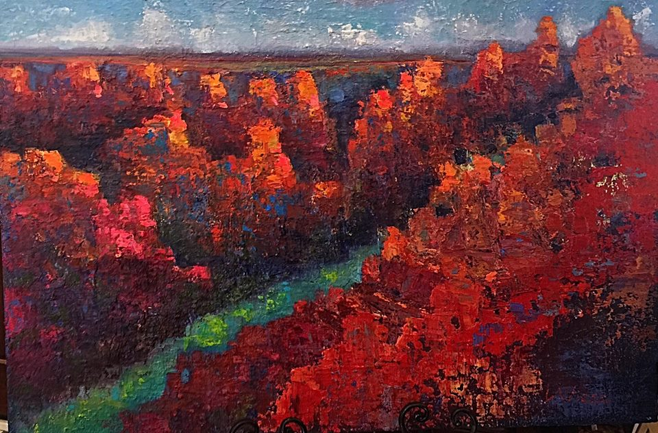 Lindy Wiese - Abstract Canyon