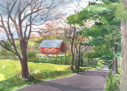 Jane Ramsey - The View From Hill Road, Bedminster Township, Bucks County, PA