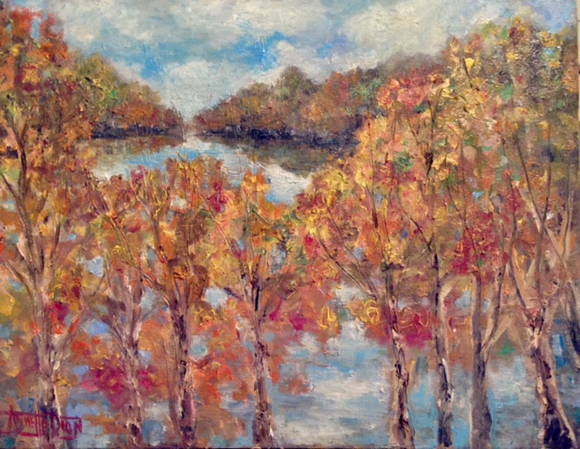 Annette D McGowan - Pajaro River in Fall