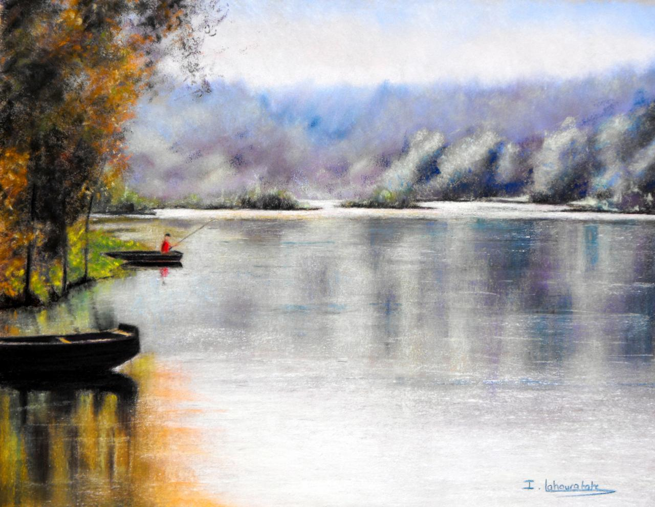 Isabelle Lahouratate - Fishing on the Dordogne