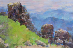 Donna H. Branson - Top of Shasta Bally (plein air)