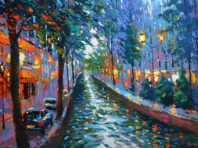 Dmitry Spiros - Canal in the Evening