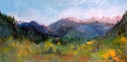 Karla Nolan - Looking From Estes Park Towards Rocky Mountain National Park