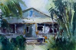 Christa Friedl - Historic El Jobean Grand Hotel (watercolor)