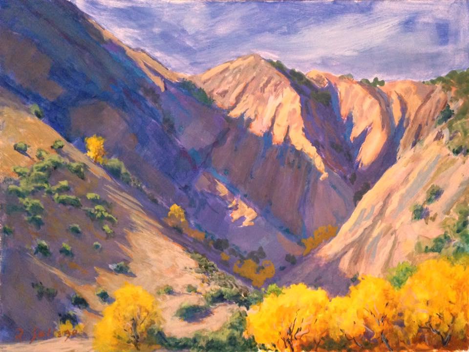 Richard E. Gallego - Fenner Canyon (gouache)