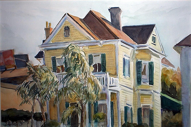 Joan DaGradi - Yellow House on Coliseum Square