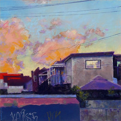 Clarence A. Porter - Behind the Danforth (pastel)