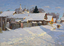 Alexander Shevelev - Kostroma. The Street in the Working Settlement