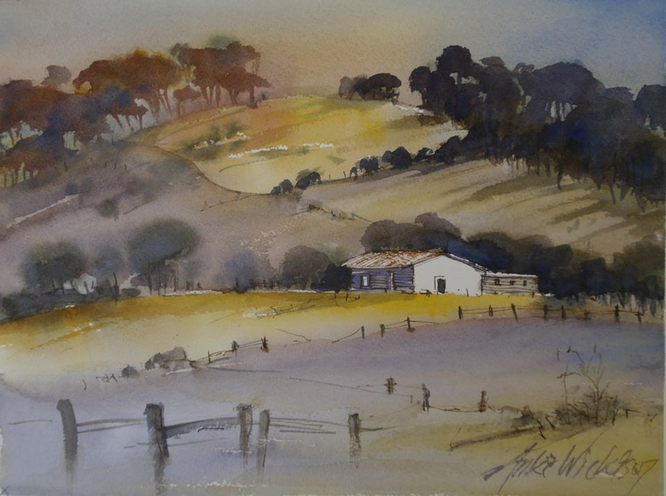 Anki Wickison - Sunset Over Farm