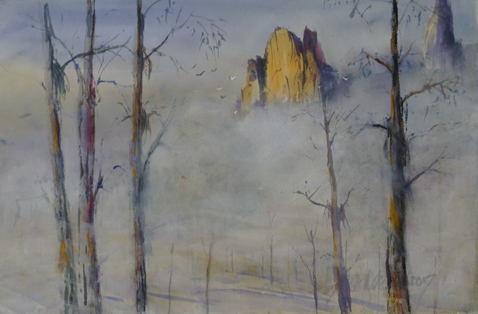 Anki Wickison - Cathedral Rock Rising Above he Mist