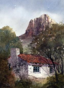 Tim Oliver - Chisos Basin Cabin (plein air)