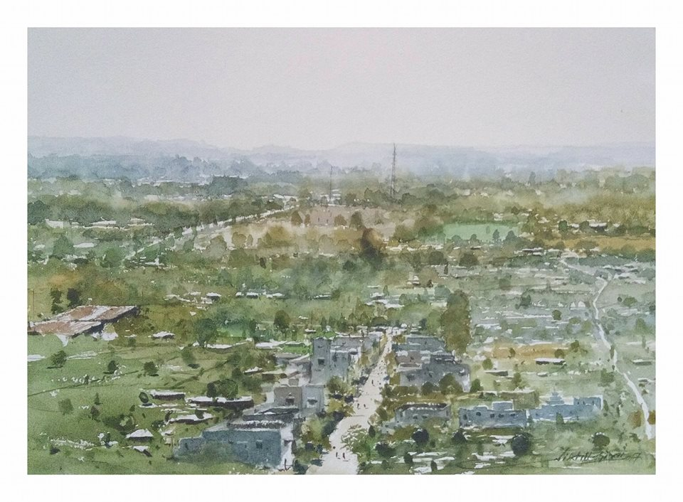 Nikhil Giri - My City (plein air)