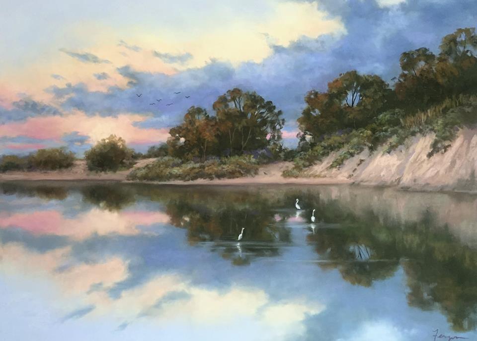 Candi Ferguson - Sunset on Goleta Slough