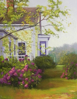 Jean Hirons - House with Hydrangeas
