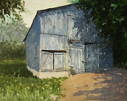 Ralph Parker - The Gray Barn (gouache)