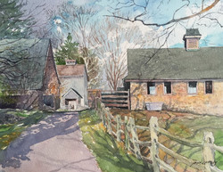 Jane Ramsey - Back to The Barn, Chadds Ford, PA (plein air watercolor)