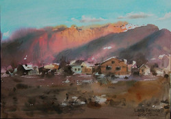 Lana Temina - Musala Sunset (watercolor)