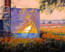 Donna H. Branson - Oil Tank at Sunset 2