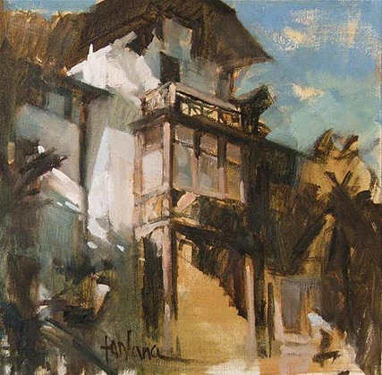 Francesco Fontana - Merano (oil)
