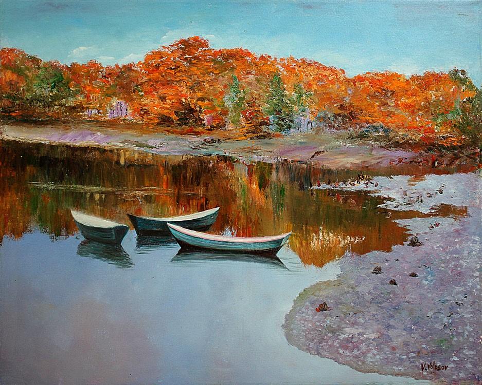 Vladimir Volosov - Golden Autumn in New England