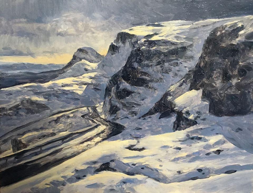 David Deamer - Snow on the Pass, near the Quiraing