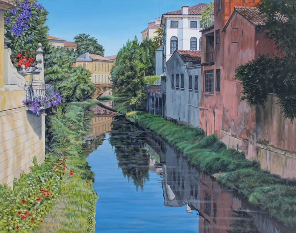 Freda Surgenor - Padua Canal (acrylic)