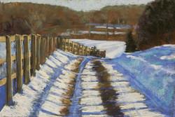 Jane Penfield - Farm Road in Snow