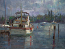 Devin Roberts - Morning on the Docks (plein air sketch)