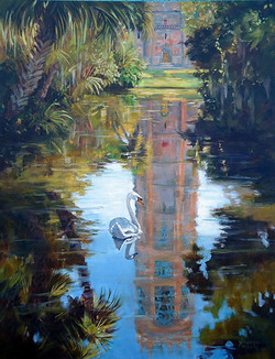 Sharon Repple - Bok Tower in Reflection