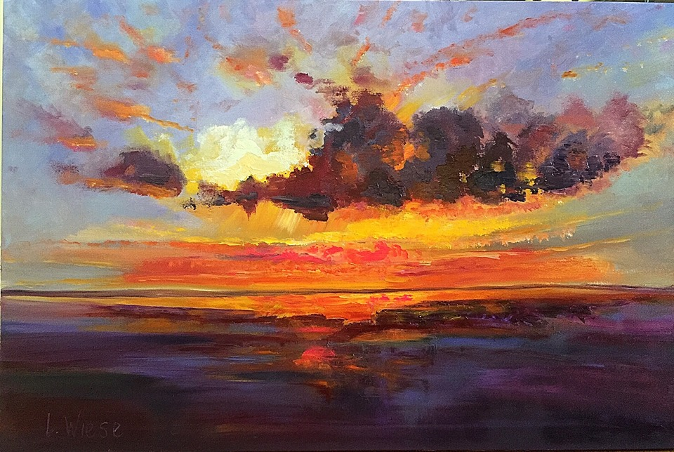 Lindy Wiese -  Sunset Over the Lake