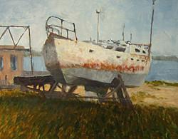 Ralph Parker - Dry Docked (gouache)