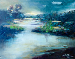 Christa Friedl - Sunset Everglades (oil)
