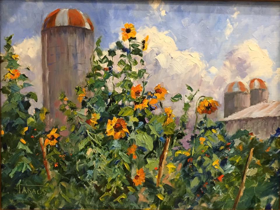 Ginny Takacs - Silos and Sunflowers
