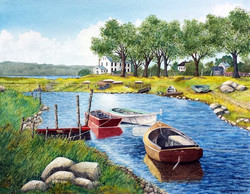 Liz McGee - The Estuary (watercolor)