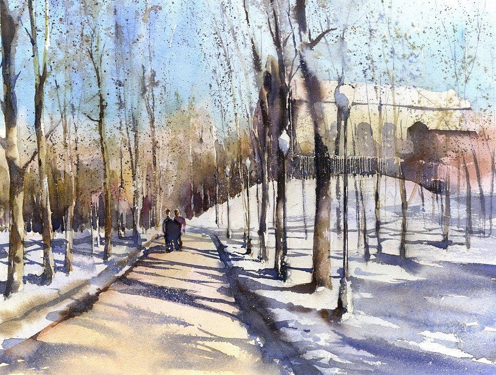 Vladimir Tuporshin - Alley in Gorky Park