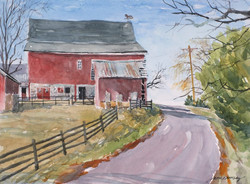 Jane Ramsey - A Hint of Spring, Bucks County, PA (plein air watercolor)
