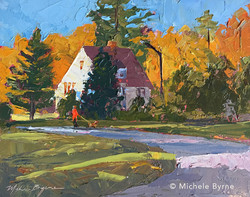 Michele Byrne - Walking by Circle Park