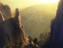 Joseph McGurl - Light Streams, Yosemite