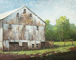 Ralph Parker - Miller's Barn (gouache)